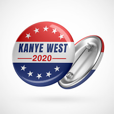 "KANYE WEST FOR PRESIDENT 2020-25mm 1/"" Button Badge Novelty Cute"