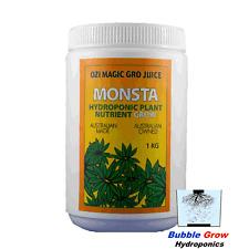MONSTA GRO 1KG ORGANIC HYDROPONIC NUTRIENTS OZI MAGIC GROW GROWING NUTRIENT