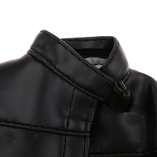 1//6 Scale PU Leather Jacket Coat Clothes Fits for 12/'/' Men Figures Doll