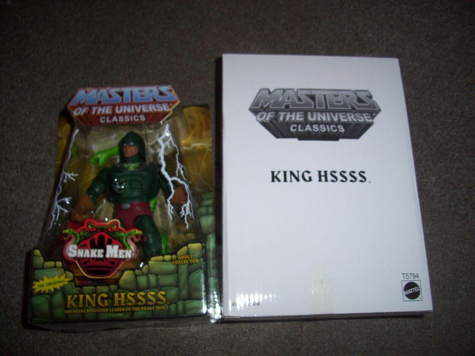Masters Of The Universe Classics King Hssss figura