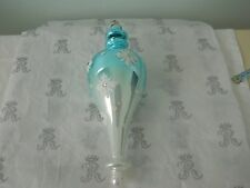 NEW Rachel Ashwell Shabby Chic Snowflake Finial Ornament Blue and White Glass