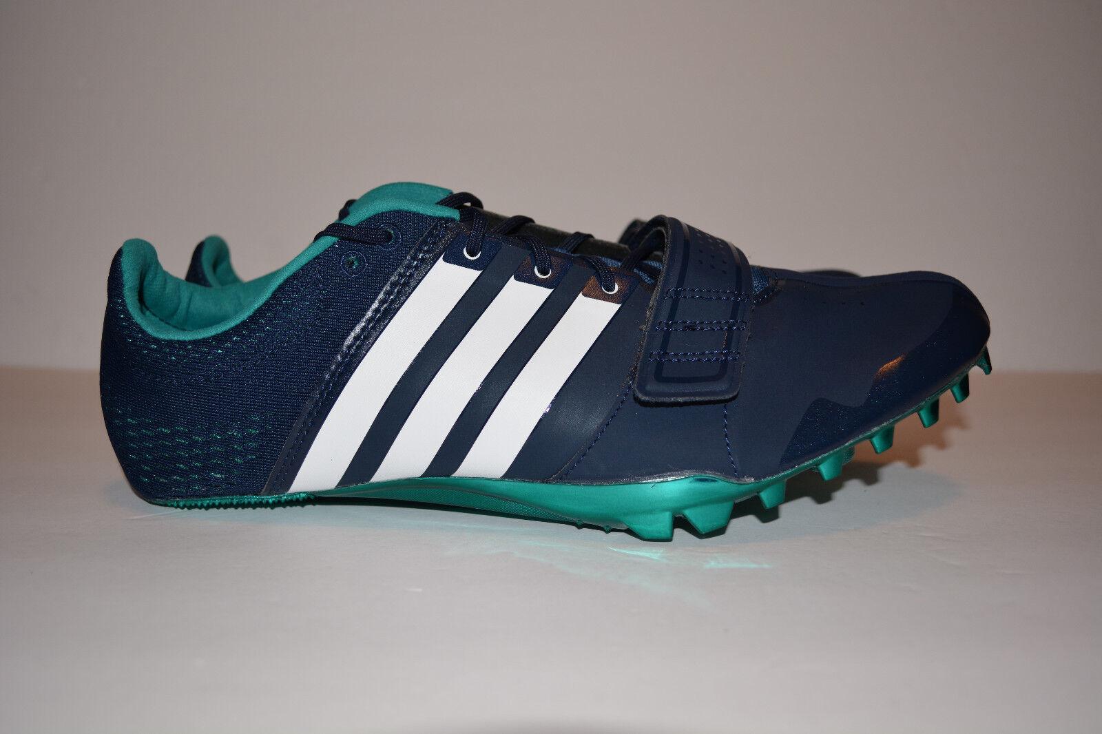 Adidas Men's Adizero Accelerator Spikes Collegiate Navy White Size 11 S78629