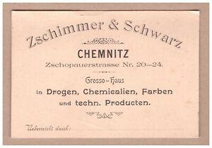 Werbekarte Zschimmer & Schwarz Chemnitz. - Berlin, Deutschland - Werbekarte Zschimmer & Schwarz Chemnitz. - Berlin, Deutschland