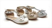 Brand Girl's Fashion Glitter Rhinestone Dress Shoes Flat Size 9 - 4