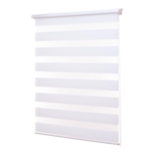 Eurohome Klemmfix Double Roller Blind No Drilling Required Transparent and Opaque Privacy Screen Roller Blind with Clamping Brackets for Windows grey B x H=60cm x 150cm Dual Roller Blind Fabric