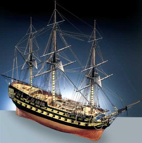 Finely Detailed, Elegant Wooden Model Ship Kit by Caldercraft   HMS Agamemnon
