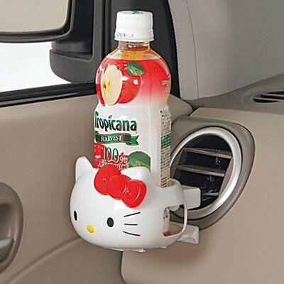 Hello Kitty Face Type Drink Bottle Holder Sanrio  Car Accessory White KT284 New