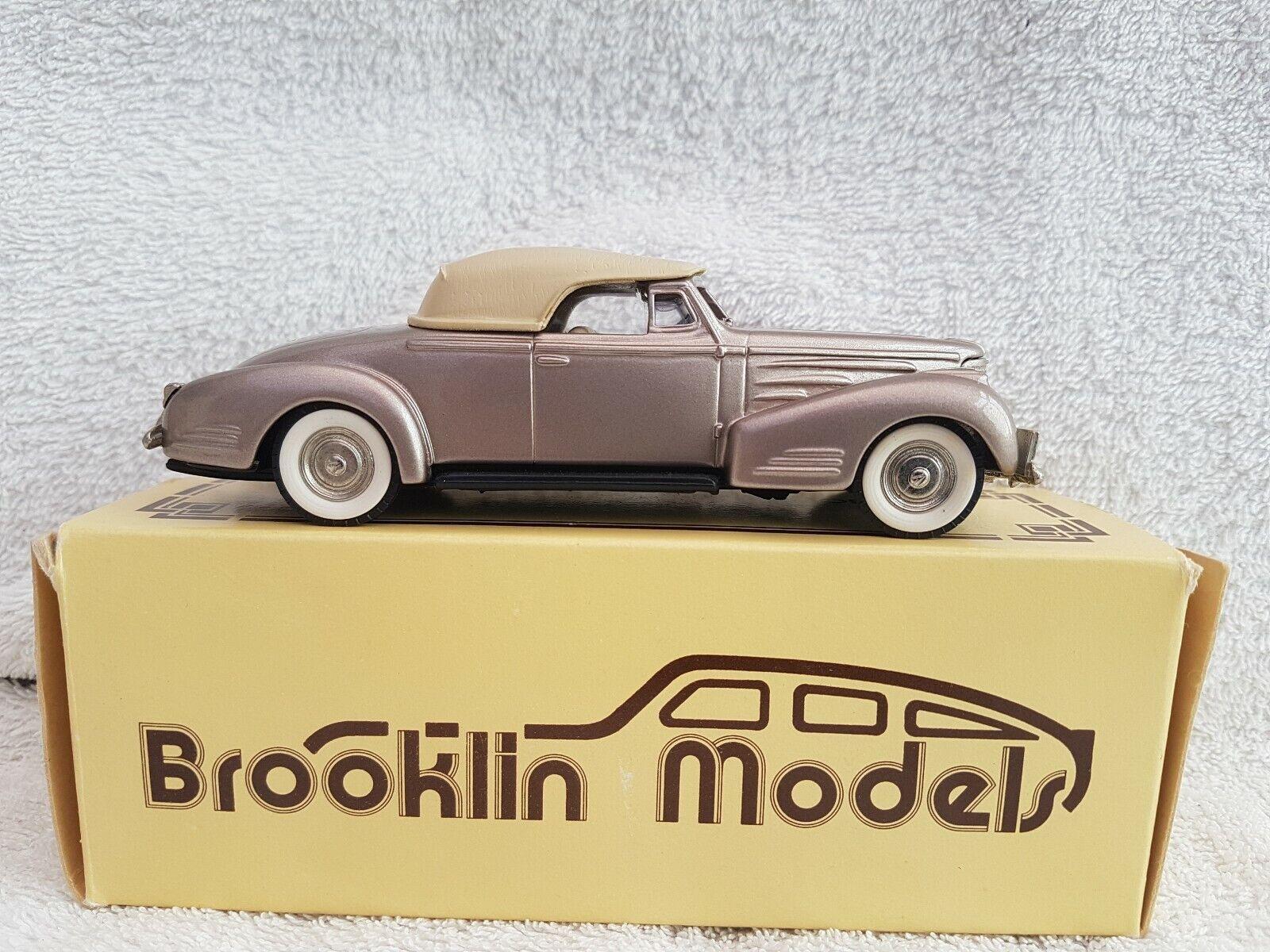 Brooklin Models 1 43 Scale Model Car BRK14 - 1940 Cadillac V16 ConGrünible Coupe