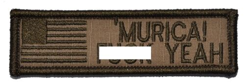 1x3.75 Military//Morale//Police Funny Patch Hook Backing /'Murica F**k Yeah