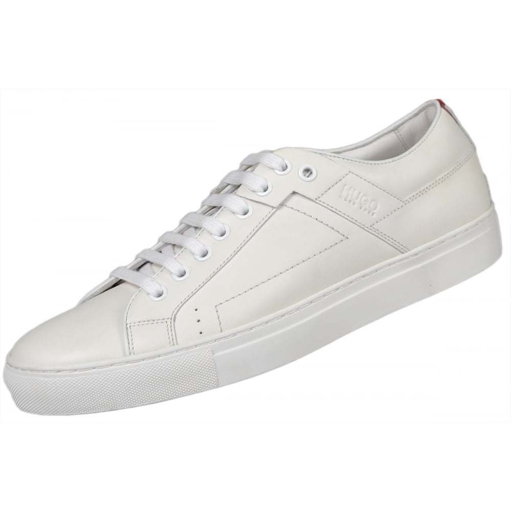 Hugo Boss Footwear Red Futurism All White Leather Trainer
