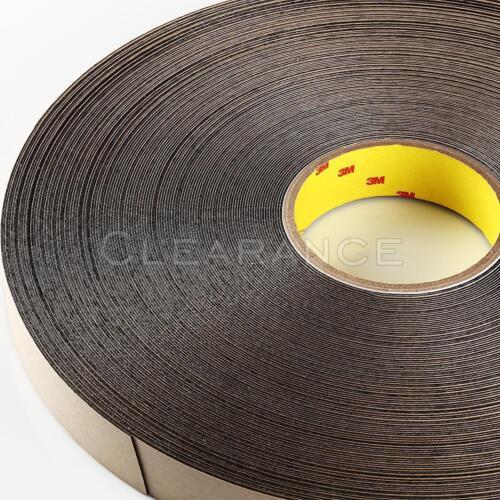 "3M Double Coated Polyethylene Double Sided Foam Tape 4492B Black 1/"" x 72 Yds"