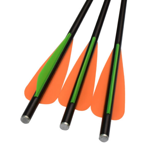 16 inch Archery Crossbow Bolts Hunting Fiberglass Arrow Flat Nock 12 pcs