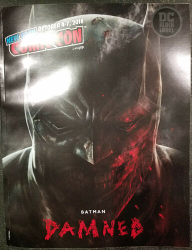 2018 NYCC CONVENTION PROGRAM BATMAN DAMNED NM PROMO GIVEAWAY