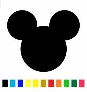 Mickey Mouse Disney Die Cut Vinyl Decal Sticker Logo Ears