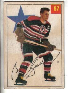1954-55-Parkhurst-Hockey-Card-87-Bill-Gadsby-Chicago-Black-Hawks-EX