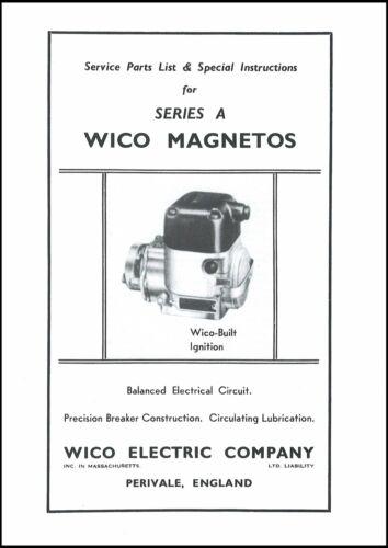 Wico Magneto Book Wico Series A Magneto Service /& Instructions Book
