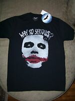 Heath Ledger_the Joker_batman_dark Knight_why So Serious T Shirt_ Size Small_new