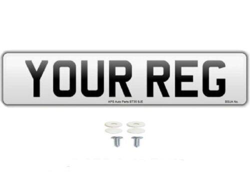 Norme unique mot Royaume-Uni Route Légal Voiture Van numéro d/'enregistrement de plaques /& fixations