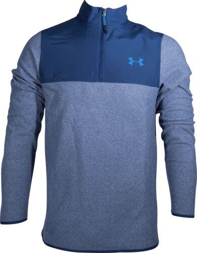 Blue Under Armour DFO ColdGear Infrared Half Zip Long Sleeve Mens Running Top