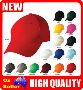 16 Colours Plain Cotton Baseball Caps   Golf Hats   Outdoor Sport ... f318d8624f78
