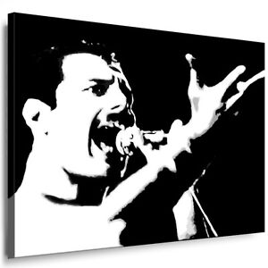 bild auf leinwand freddie mercury queen bilder mit keilrahmen kunstdruck poster ebay. Black Bedroom Furniture Sets. Home Design Ideas