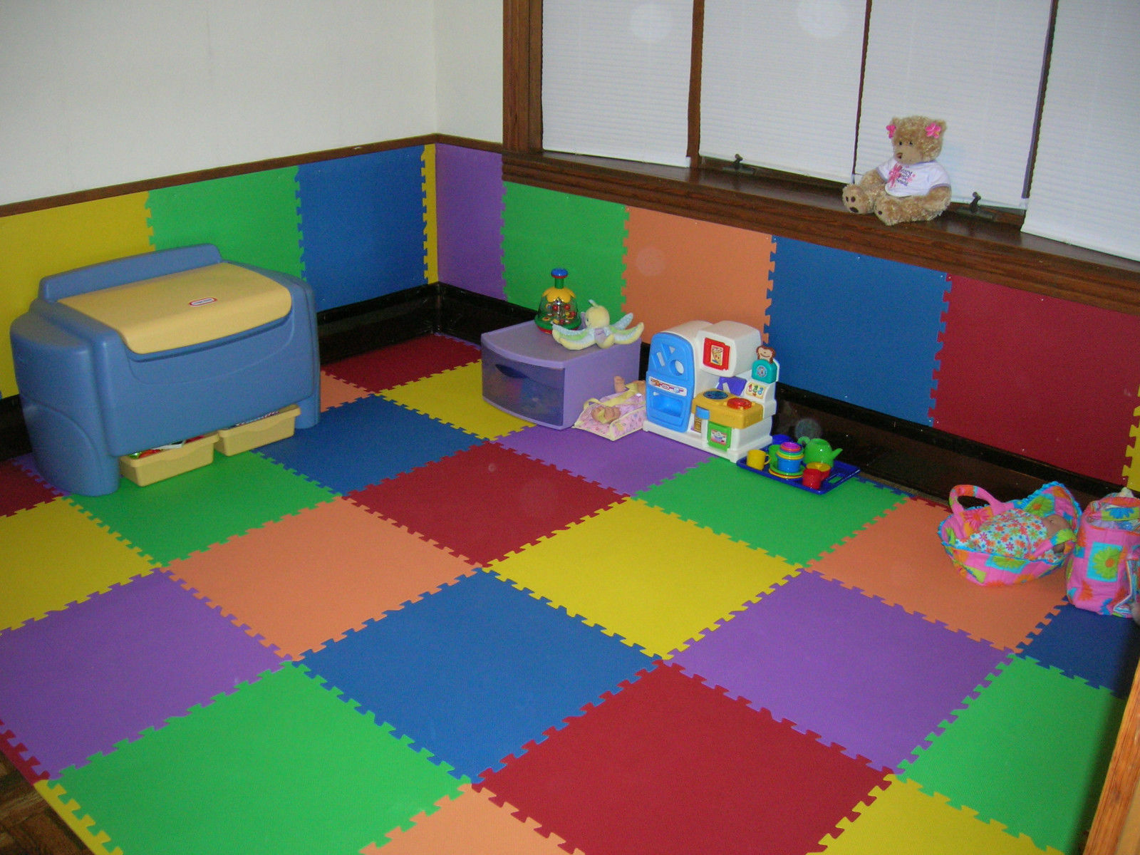 168 sq ft child gym daycare kids playroom foam mat interlocking flooring 24 c