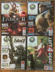 Official Xbox Magazine lot of 4 2008 Magazines  #87, 89, 90, 91 - Video Gamer