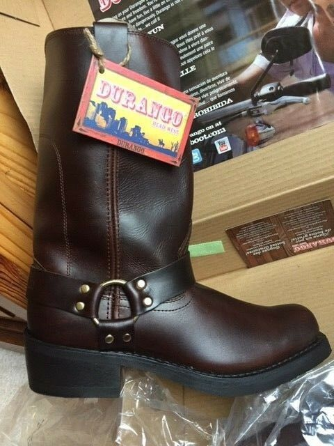 Men's DB514 Medium 10D Size Boots Motorcycle Leather Brown