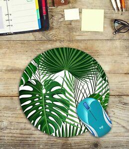 Round-Mouse-Pad-Monstera-Leaf-amp-Palm-Leaf-Easy-Glide-Non-Slip-Neoprene