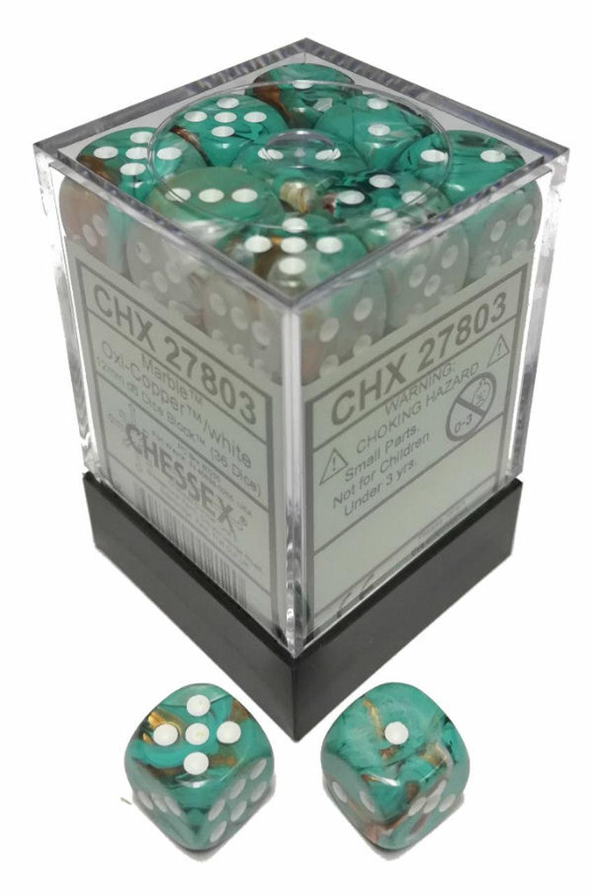 Chessex NIB New in Box 36 dice Choose Your Gemini 12mm D6 Game Dice Block