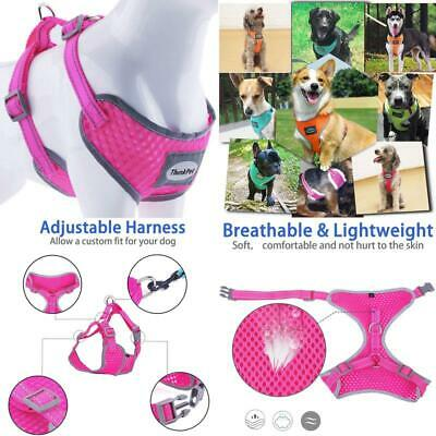 ThinkPet Reflective Adjustable Comfort Nylon Dog Halter Harness