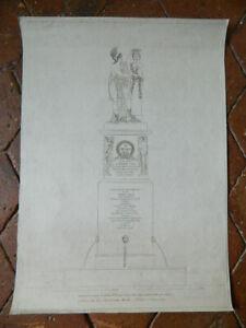 Generale Dasaix Incisione Monumento Alla Memoria Posto Thionville Parigi Anni 9
