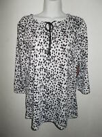 Leopard Design Top With Tags Women's L