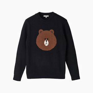 [NEW] LINE FRIENDS STORE OFFICIAL GOODS : Black Brown Lambswool Sweater