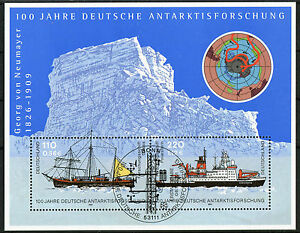 Bund-Block-Nr-57-gestempelt-ESST-Bonn-BRD-2229-2230-Antarktisforschung-used
