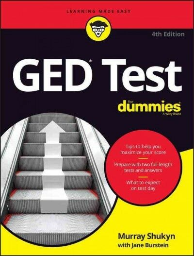 GED Test for Dummies, Paperback by Shukyn, Murray; Burstein, Jane, Brand New,...