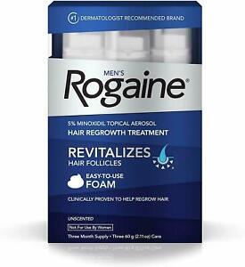 Rogaine Foam Hair Loss & Regrowth Treatment 5% Minoxidil - 1,2,3,6 Month Supply