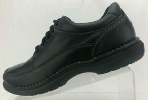 Rockport-World-Tour-Walking-Shoes-Elite-Lace-Up-Black-Leather-Oxford-Mens-8-5-M