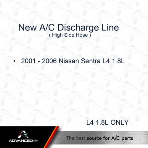 New A//C Discharge Line Fits 2001 2002 2003 2004 2005 2006 Nissan Sentra L4 1.8L