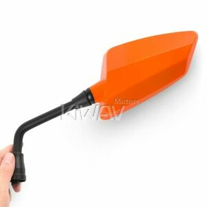 KiWAV Hawk Orange Rear View Mirrors 10mm M10 for Buell Ulysses XB12XT Aprilia