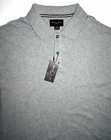 Mens Xl Black Brown 1826 Ss Polo Style Shirt Grey Cotton