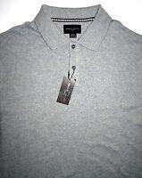 Mens Xl Black Brown 1826 Ss Polo Style Shirt Grey Cotton