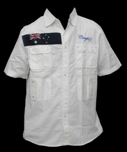 NEW AUTHENTIC MEN/'S COOGI WHITE COLOR BUTTON DOWN SHIRTS C73101 C73101XX