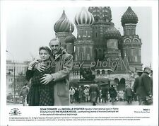 1990 Sean Connery Michelle Pfeiffer in Russia Original News Service Photo