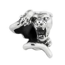 Panther Charm Rebeligion True Silve für Lederarmband Large Men Unisex Black Rock