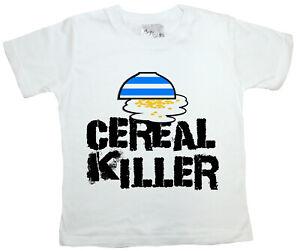 "SALE ITEM White T-Shirt 3/4 yrs ""Cereal Killer"" End of Line item."