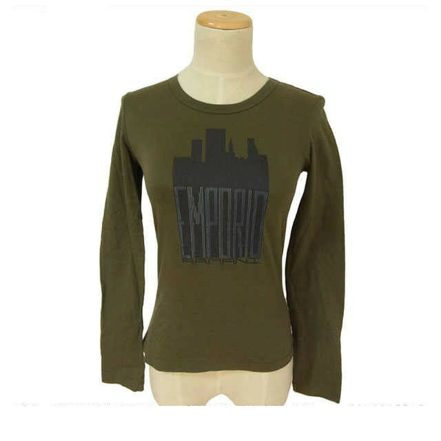 Armani T-Shirts Grün Woman Authentic Used D031