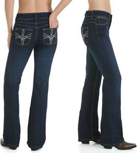 Wrangler-10MWZHS-Mae-Booty-Up-Boot-Cut-Stretch-Jeans-Size-13-14-Aus-18