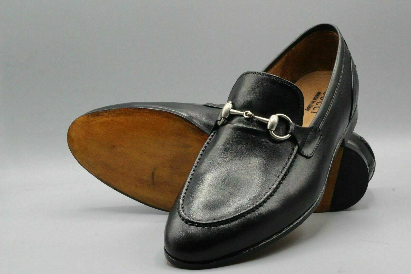 Homme Fait à la main Chaussures Formal Wear Véritable Cuir Noir Mocassins À Enfiler Bottes NOUVEAU