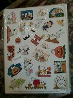 Peanuts Characters Snoopy Charlie Brown Lucy Autumn Stickers 56 Sticker